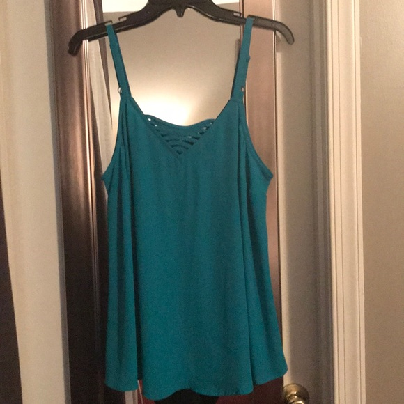 torrid Tops - Turquoise layering Cami with detailed neck